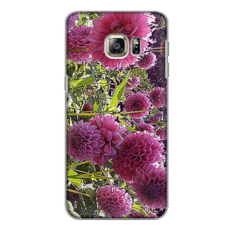 Чехол для Samsung Galaxy S6 Edge, объёмная печать Printio Цветник. mooncase s линия мягкий силиконовый гель тпу гибкой оболочки защитный чехол для samsung galaxy s6 edge белый