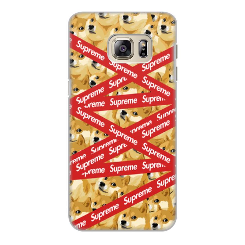 Чехол для Samsung Galaxy S6 Edge, объёмная печать Printio Supreme цена