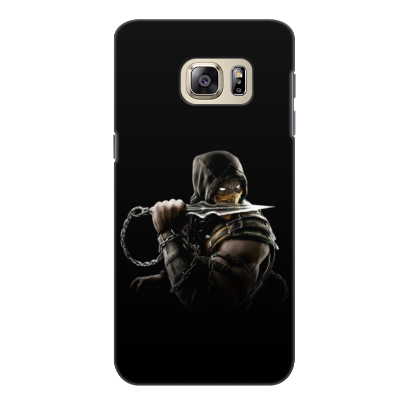 Чехол для Samsung Galaxy S6 Edge, объёмная печать Printio Mortal kombat (scorpion)