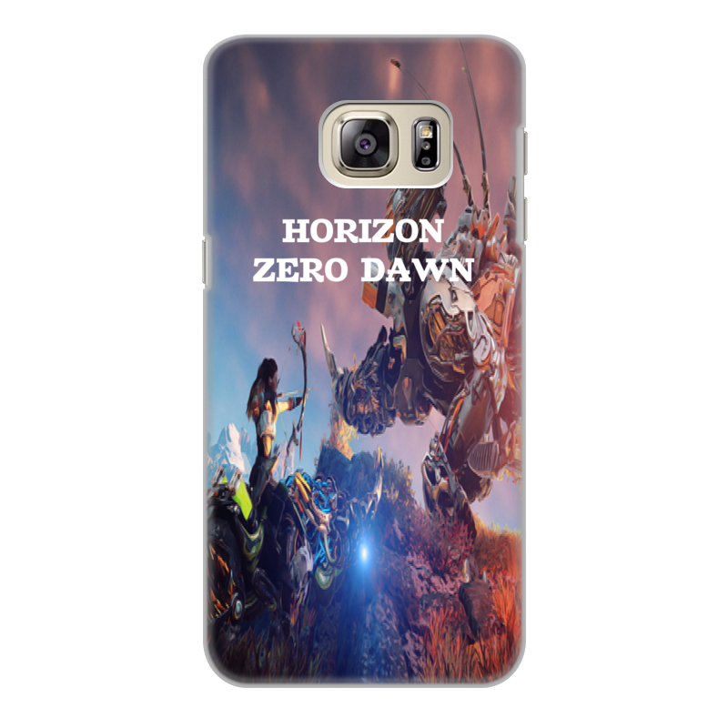 Чехол для Samsung Galaxy S6 Edge, объёмная печать Printio Horizon zero dawn цена