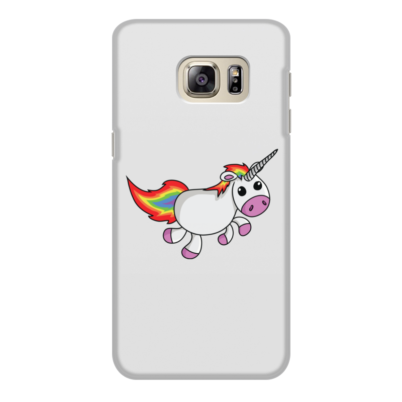 Чехол для Samsung Galaxy S6 Edge, объёмная печать Printio Единорог радужный panda puzzle украшение веселый руль единорог аврора белый 1216304 цв 1216309