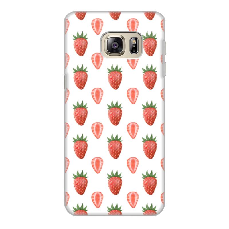 Чехол для Samsung Galaxy S6 Edge, объёмная печать Printio Акварельная клубника