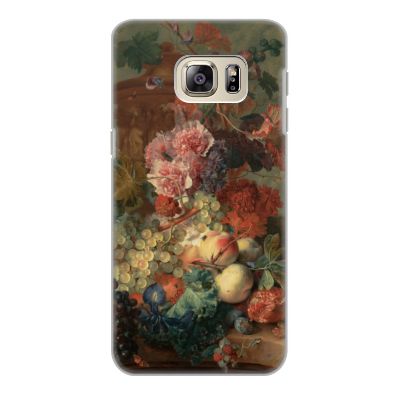Чехол для Samsung Galaxy S6 Edge, объёмная печать Printio Цветы (ян ван хёйсум) футболка с полной запечаткой для мальчиков printio цветы ян ван хёйсум
