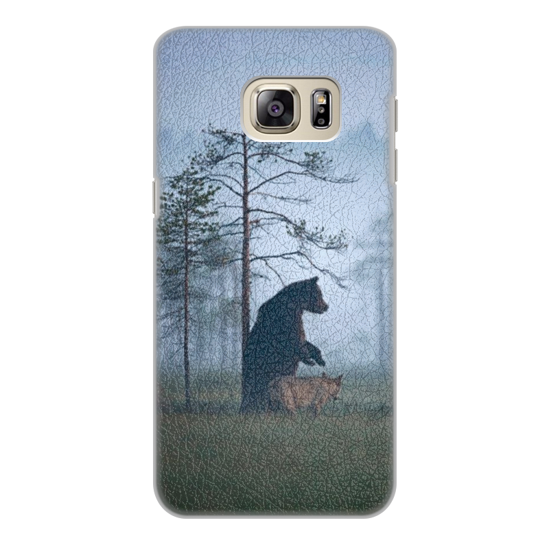 Чехол для Samsung Galaxy S6 Edge, объёмная печать Printio Мишка и волк чехол для iphone 7 объёмная печать printio мишка и волк