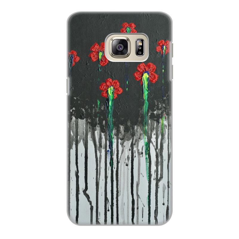 Чехол для Samsung Galaxy S6 Edge, объёмная печать Printio Красные маки бомбер printio красные маки