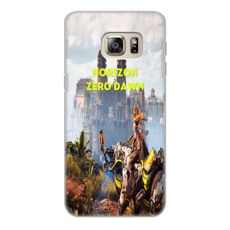 все цены на Чехол для Samsung Galaxy S6 Edge, объёмная печать Printio Horizon zero dawn