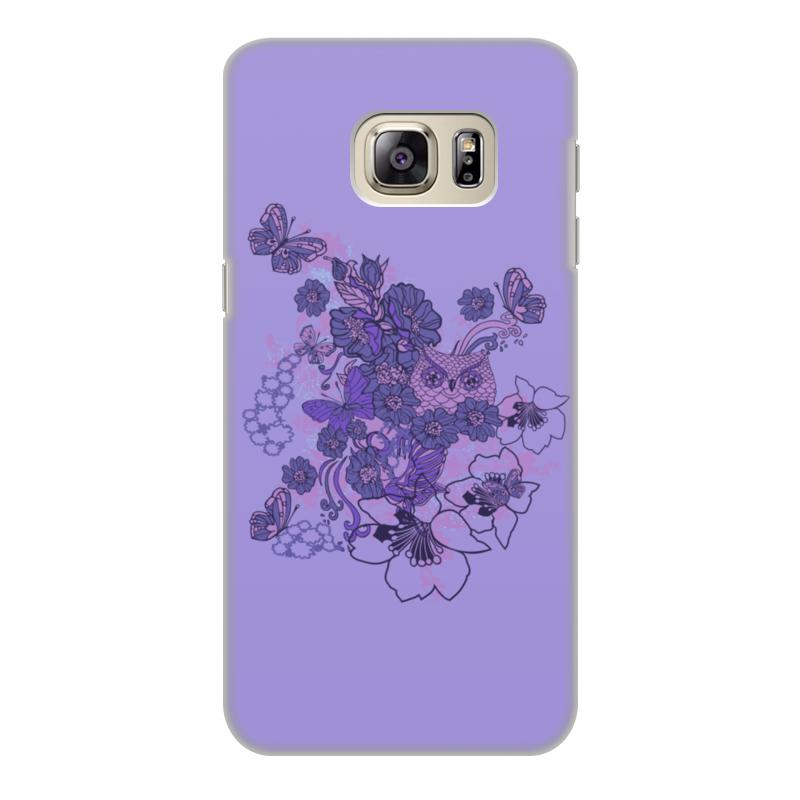 Чехол для Samsung Galaxy S6 Edge, объёмная печать Printio Сова в цветах чехол для iphone 5 printio сова в цветах