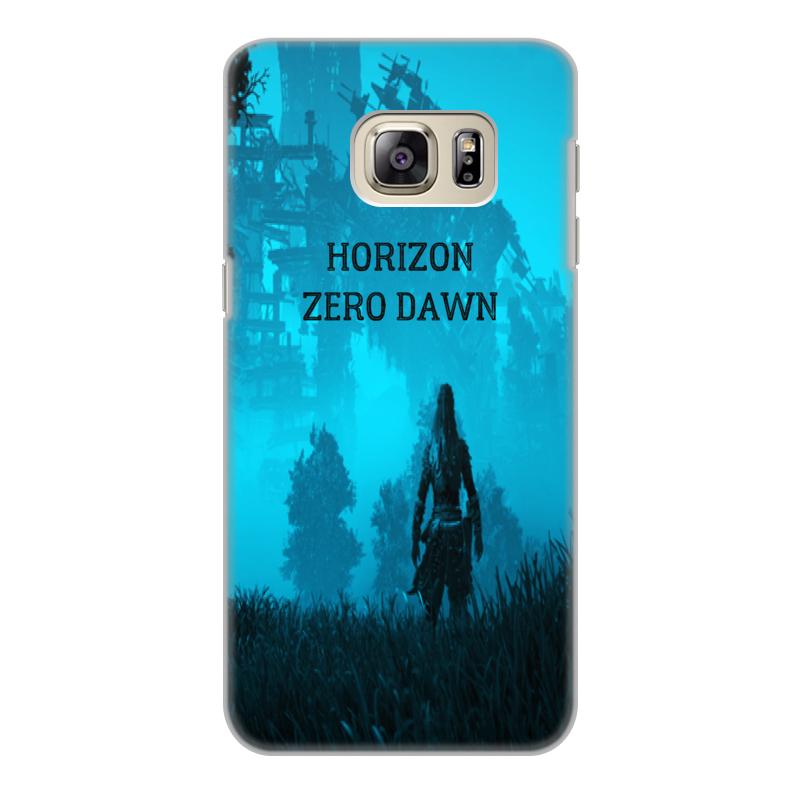 Чехол для Samsung Galaxy S6 Edge, объёмная печать Printio Horizon zero dawn mooncase s линия мягкий силиконовый гель тпу гибкой оболочки защитный чехол для samsung galaxy s6 edge белый