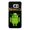 "Чехол для Samsung Galaxy S6 Edge, объёмная печать ""Шроид"" - приколы, шрек, андроид"