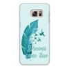 """Чехол для Samsung Galaxy S6 Edge, объёмная печать """"Dreams come true"""" - птицы, мечта, акварель, перо, dream"""