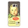 "Чехол для Samsung Galaxy S6 Edge, объёмная печать ""аленка"" - шоколад, аленка"