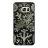 """Чехол для Samsung Galaxy S6 Edge, объёмная печать """"Лишайники (Lichenes, Ernst Haeckel)"""" - хэллоуин, черно-белый, стильный, эрнст геккель, лишайники"""