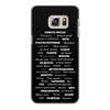 """Чехол для Samsung Galaxy S6 Edge, объёмная печать """"Манта для настоящих мужчин (черный вариант)"""" - праздник, мужчина, подарок, пожелания, мантра"""