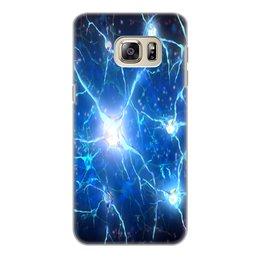 """Чехол для Samsung Galaxy S6 Edge, объёмная печать """"Молекулы"""" - узор, абстракция, текстура, химия, молекулы"""