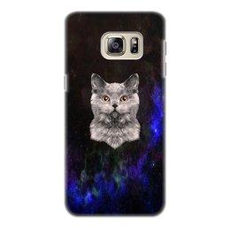 """Чехол для Samsung Galaxy S6 Edge, объёмная печать """"Без названия"""" - кот, звезды, котенок, космос, коты в космосе"""