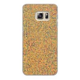 """Чехол для Samsung Galaxy S6 Edge, объёмная печать """"Сандал"""" - арт, узор, абстракция, фигуры, текстура"""