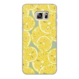 """Чехол для Samsung Galaxy S6 Edge, объёмная печать """"лимоны"""" - лето, фрукты, лимон, лимоны, цитрусовые"""