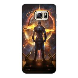 """Чехол для Samsung Galaxy S6 Edge, объёмная печать """"Starpoint Gemini Warlords"""" - starpoint gemini warlords, планета, космос, взрыв, компьютерная игра"""