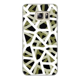 """Чехол для Samsung Galaxy S6 Edge, объёмная печать """"Empty"""" - камуфляж, camo, тактический"""