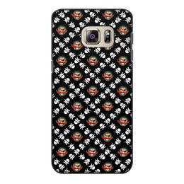 """Чехол для Samsung Galaxy S6 Edge, объёмная печать """"Бармалей"""" - череп, пираты, кости, пират, бармалей"""