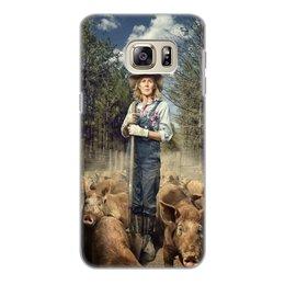 """Чехол для Samsung Galaxy S6 Edge, объёмная печать """"Фермер"""" - женщины, урожай"""