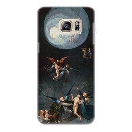 """Чехол для Samsung Galaxy S6 Edge, объёмная печать """"Блаженные и проклятые (Восхождение в эмпирей)"""" - картина, живопись, босх"""