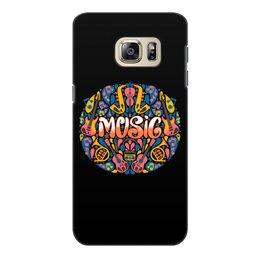 """Чехол для Samsung Galaxy S6 Edge, объёмная печать """"Music"""" - музыка, music, музыкальные инструменты, ноты"""