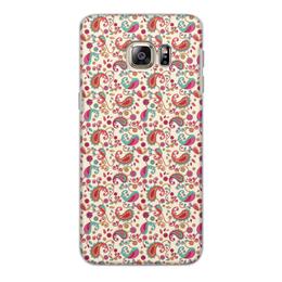 """Чехол для Samsung Galaxy S6 Edge, объёмная печать """"Пейсли (Яркий)"""" - цветок, цветы, лепесток, пейсли, узор"""