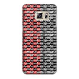 "Чехол для Samsung Galaxy S6 Edge, объёмная печать ""Supreme"" - узор, надписи, бренд, supreme, суприм"