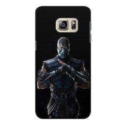 """Чехол для Samsung Galaxy S6 Edge, объёмная печать """"Mortal Kombat X (Sub-Zero)"""" - воин, боец, mortal kombat, лед, sub-zero"""