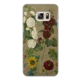 """Чехол для Samsung Galaxy S6 Edge, объёмная печать """"Цветы (картина Эжена Делакруа)"""" - цветы, картина, живопись, делакруа, романтизм"""