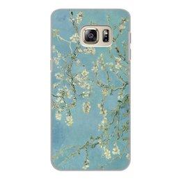 "Чехол для Samsung Galaxy S6 Edge, объёмная печать ""Цветы миндаля (Ван Гог)"" - картина, ван гог"