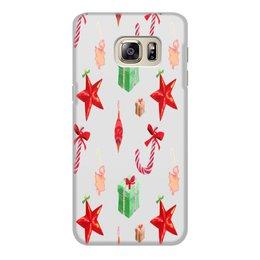 """Чехол для Samsung Galaxy S6 Edge, объёмная печать """"новый год"""" - конфеты, новый год, подарки, рождество, christmas"""