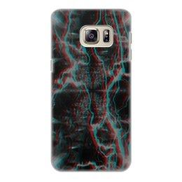 """Чехол для Samsung Galaxy S6 Edge, объёмная печать """"Молния"""" - узор, космос, краски, абстракция, молния"""