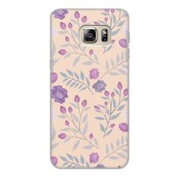 """Чехол для Samsung Galaxy S6 Edge, объёмная печать """"цветы"""" - лето, цветы, узор, природа, цветочки"""