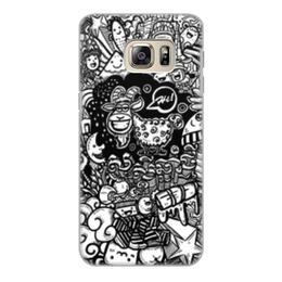 """Чехол для Samsung Galaxy S6 Edge, объёмная печать """"Иллюстрация"""" - звезда, люди, баран, ананас, козел"""