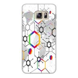 """Чехол для Samsung Galaxy S6 Edge, объёмная печать """"Формула"""" - узор, текстура, формула, химия, молекулы"""