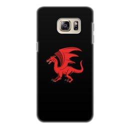 """Чехол для Samsung Galaxy S6 Edge, объёмная печать """"дракон"""" - крылья, животные, дракон, dragon, динозавр"""