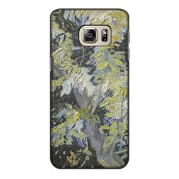"Чехол для Samsung Galaxy S6 Edge, объёмная печать ""Ветви цветущей акации (Винсент ван Гог)"" - картина, ван гог"