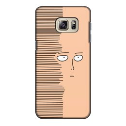 "Чехол для Samsung Galaxy S6 Edge, объёмная печать ""Сайтам"" - аниме, saitama, сайтама, one punch man, ванпанчмен"