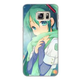 """Чехол для Samsung Galaxy S6 Edge, объёмная печать """"Miku Hatsune Sush"""" - аниме, hatsune, мику, бесконечное лето, miku"""
