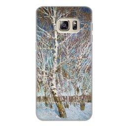 """Чехол для Samsung Galaxy S6 Edge, объёмная печать """"Февральская лазурь (картина Игоря Грабаря)"""" - картина, природа, пейзаж, живопись, грабарь"""