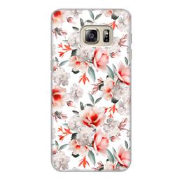 """Чехол для Samsung Galaxy S6 Edge, объёмная печать """"Без названия"""" - цветы"""