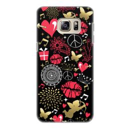 """Чехол для Samsung Galaxy S6 Edge, объёмная печать """"Валентинка"""" - валентинка, сердце, губы, любовь"""
