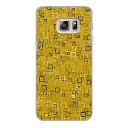 """Чехол для Samsung Galaxy S6 Edge, объёмная печать """"Квадраты"""" - квадрат, яркий"""