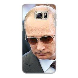 """Чехол для Samsung Galaxy S6 Edge, объёмная печать """"ПУТИН. ПОЛИТИКА"""" - арт, стиль, очки, россия, президент"""
