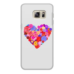 """Чехол для Samsung Galaxy S6 Edge, объёмная печать """"День всех влюбленных"""" - любовь, день святого валентина, валентинка, i love you, день влюбленных"""