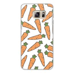 """Чехол для Samsung Galaxy S6 Edge, объёмная печать """"Морковки"""" - лето, веган, здоровье, морковь, овощи"""