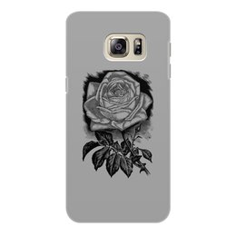 """Чехол для Samsung Galaxy S6 Edge, объёмная печать """"Цветок"""" - цветы, роза, розы, букет, шипы"""