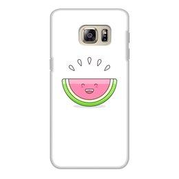 """Чехол для Samsung Galaxy S6 Edge, объёмная печать """"Без названия"""" - лето, еда, фрукты, арбуз, мульт"""